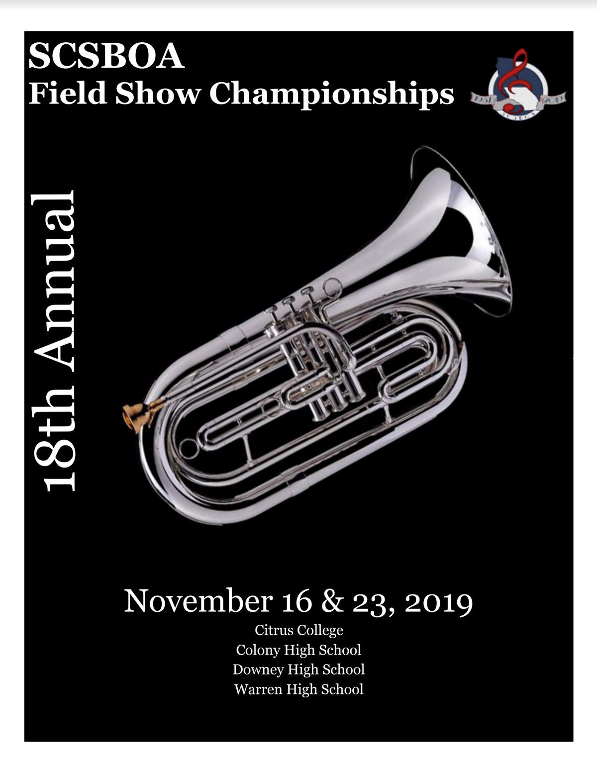 SCSBOA Field Show Championships Program 2019