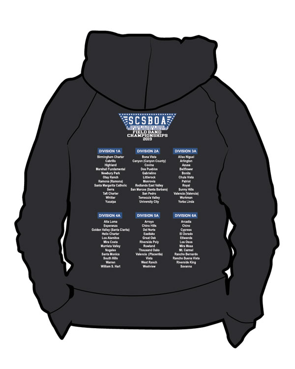 SCSBOA 2019 Field Championships Hoodie - Back