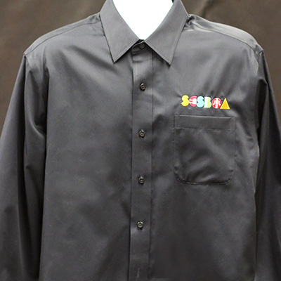 SCSBOA Non-Iron Black Twill Dress Shirt